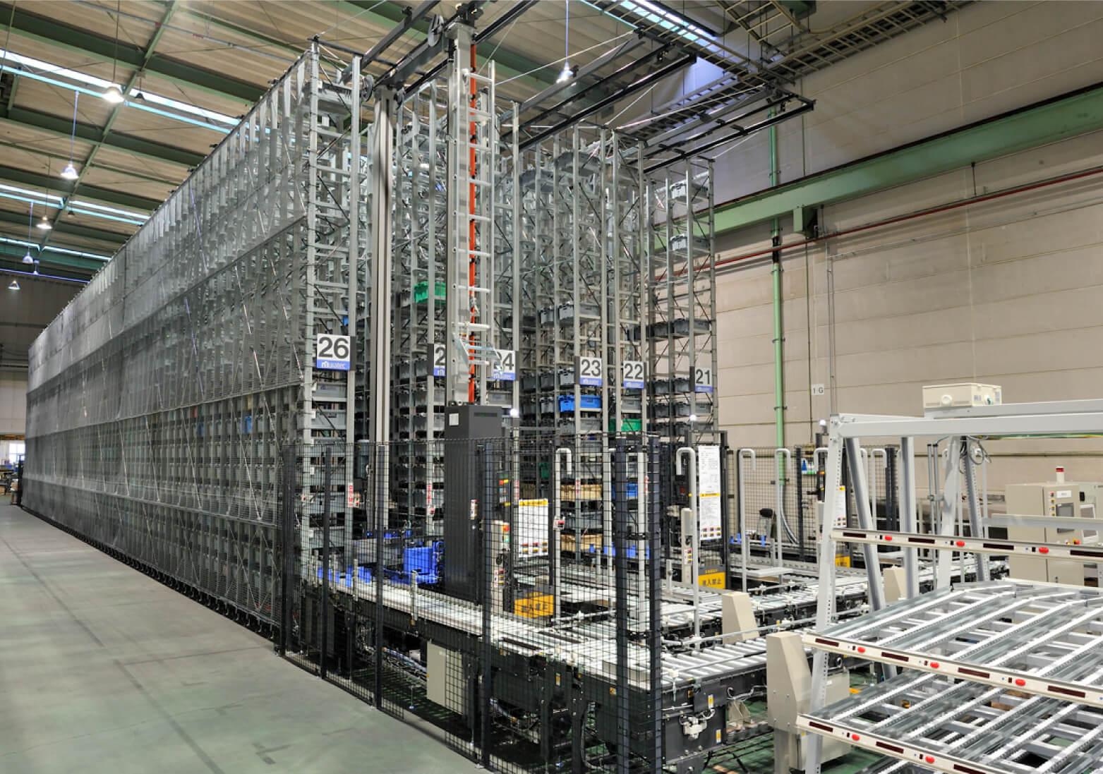 Высотный склад для ящиков